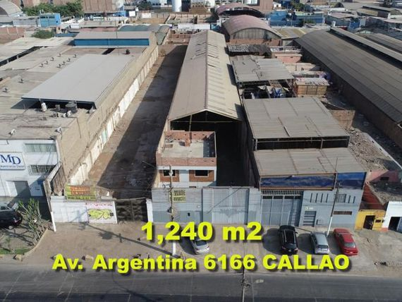 OCASION VENDO LOCAL INDUSTRIAL DE 1240 M2 EN EL CALLAO