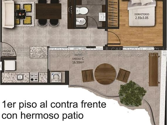 DORREGO 100 1 DORMITORIO CON AMPLIO PATIO PILETA Y PARRILLERO POSIBILIDAD DE FINANCIACION