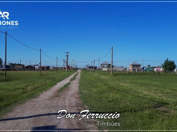"Terreno. Oportunidad. <span itemprop=""streetAddress"">Don Ferruccio</span>. Timbues"