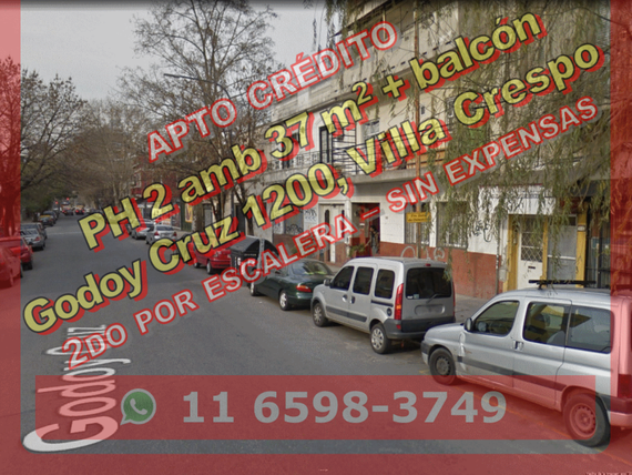 PH VCrespo 2amb 37m2 +balc 2do x esc G Cruz 1200 u$s 120.000