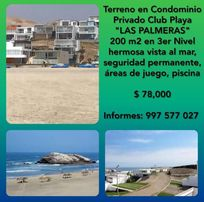 "TERRENO EN CONDOMINIO PRIVADO CLUB PLAYA ""LAS PALMERAS"" SUPER PRECIO INMEJORABLE"