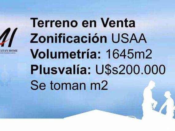 INCIDENCIA TOTAL u$S825 X M2 VENDIBLE - USAA - VOLUMETRÍA: 1645M2 (+ BALCONES) - PLUSVALÍA u$S200.000 - SE TOMAN M2