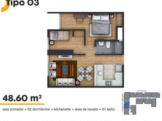 PROYECTO ON APARTMENTS  2 HAB